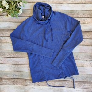 Lucy Lean And Mean Blue Jacket Hoodie Cowl Neck